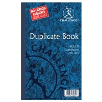 Challenge Carbonless Duplicate Book 210x130mm Ruled Feint 100080458