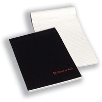 Black n Red A4 Executive Pad Ruled Feint and Margin 100100861
