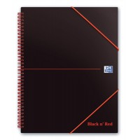 Image for Black n Red Wirebound Elasticated Meeting Book A5 Polypropylene Cover 100100893