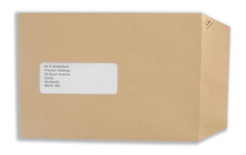 Basildon Bond Watermarked Envelope C5 Window 90gsm Manilla Peel and Seal Pack of 500 E80190