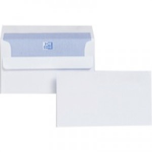 Plus Fabric Envelope 89x152mm/3.5x6 inch White Self-Seal Pack of 500 F21870