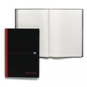 Black n Red Casebound Manuscript Book 384 Pages A4 Ruled Feint 100080473