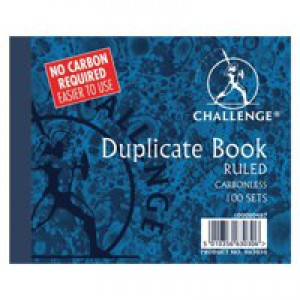 Challenge Carbonless Duplicate Book 105x130mm Ruled Feint 100080487