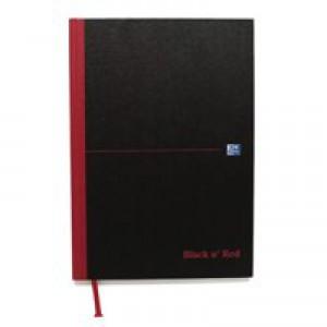 Black n Red Casebound Manuscript/Sketch Book 192 Pages A4 Plain 100080489