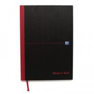 Black n Red Book Casebound 90gsm Plain 192pp A4 Ref 100080489 [Pack 5]