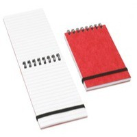 Summit Elastic Band Notebook 76x127mm Wirebound 192 Pages Ruled Feint H76021