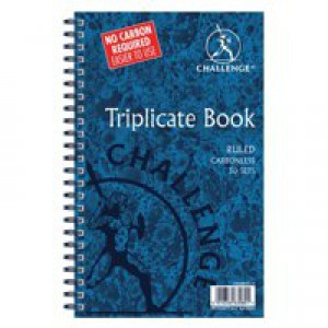Challenge Wirebound Carbonless Triplicate Book 210x130mm Ruled Feint 100080512