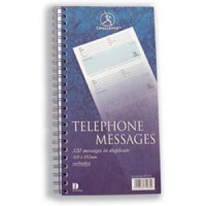 Challenge Wirebound Telephone Message Pad 305x152mm 320 Messages 100080054