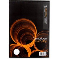 Cambridge Refill Pad A4 Punched 4-Hole Ruled Feint and Margin Head Bound 846400177