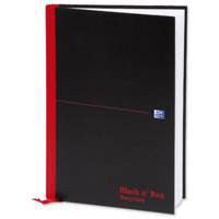 Black n Red Casebound Book Recycled A4 90gsm 192 Pages 100080530