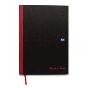 Black n Red Casebound Manuscript Book 192 Pages A4 Single Cash (Pk 5) 100080537