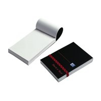 Image for Black n Red Policemans Elasticated Notebook Polypropylene Cover 192 Pages Feint M67072