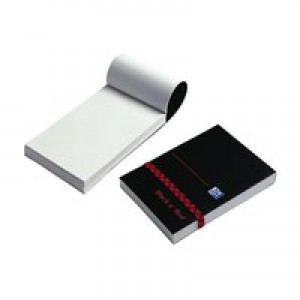 Black n Red Policemans Elasticated Notebook Polypropylene Cover 192 Pages Feint 100080540