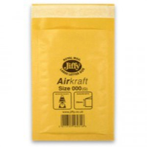 Jiffy AirKraft Bag Gold 90x145mm Pack of 150 JL-GO-000