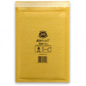 Jiffy AirKraft Bag Gold 170x245mm Pack of 100 JL-GO-1