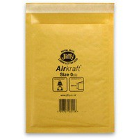Jiffy AirKraft Bag Size 0 Gold Multi Pack of 10 MMUL04602