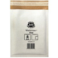 Jiffy Mailmiser 220x320mm Pack of 10 White MP3-10