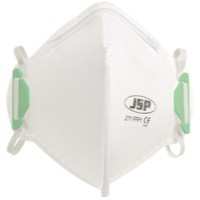 JSP Fold Flat Disposable Vertical Mask FFP1 211 White BEA110-101-000