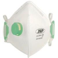 JSP Fold Flat Disposable Vertical Mask FFP1 212 Valved White Code BEB110-101-000