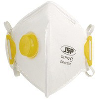 JSP Fold Flat Disposable Vertical Mask FFP2 222 Valved White BEB120-101-000