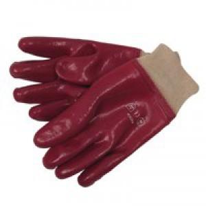 JSP PVC Knitwrist Glove Size 10 Red ACG317-150-600