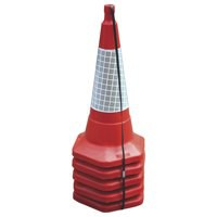 JSP Standard One Piece Cone 750mm Pack of 5 Red JAA060-220-615