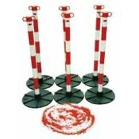 JSP Demarcation Barrier Chain Support Post Red/White 1531101/6