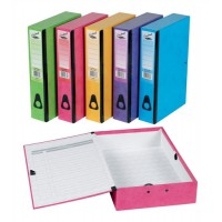 Image for Concord Contrast Foolscap Laminated Box File Assorted Pack of 5 13487