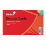 Record Card Smooth 203x127mm Assorted [Pack 100]