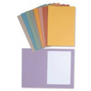 Concord 270gsm Square Cut Folder Medium-weight Foolscap Pink 43207