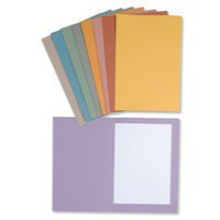 Guildhall 270gsm Square Cut Folder Medium-Weight Foolscap Red 43208
