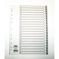 Concord Grey Polypropylene Index A4 1-20 62705