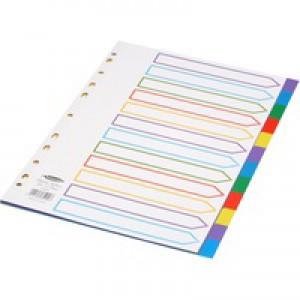 Concord Plastic Divider A4 12-Part Multi-Colour 65999