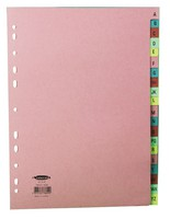 Concord Manilla Index A4 A-Z 20-Part Multi-Colour Tabs 11-Hole 78602/AZ6