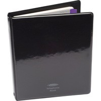 Image for Binder for Telephone Index Book with Matching A-Z Index and 20 Sheets A5 Black