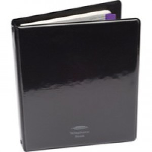 Concord CD6 Telephone Index Book Binder With Matching A-Z Index And 20 Sheets A5 Black Code 83010