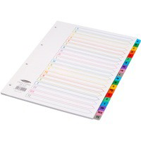 Concord Index A-Z A4 White with Multi-Colour Tabs 02101/CS21