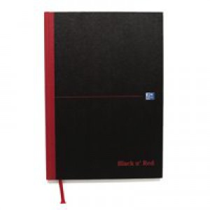 Black n Red Book Casebound 90gsm Double Cash 192 Pages A4 Code 100080514