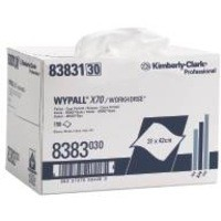 Wypall X70 Wipers Box 1-Ply Pack of 150 White 8383