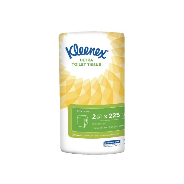 Kleenex Ultra Toilet Roll 2-ply 2 Rolls of 240 Sheets Ref 8414040 [Pack 20]