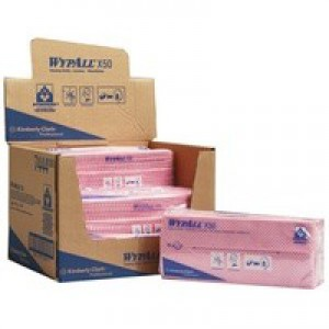 Wypall X50 Cleaning Cloths Pack of 50 Red 7444