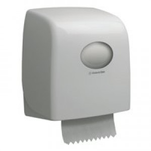 Aquaris Slim Roll Hand Towel Dispenser White 6953