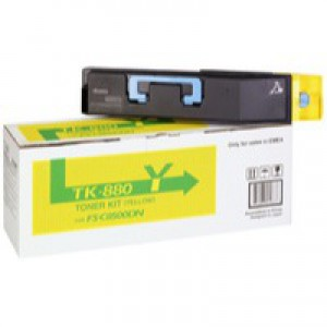 Kyocera FS-C8500DN Toner Cartridge 18K Yellow TK-880Y