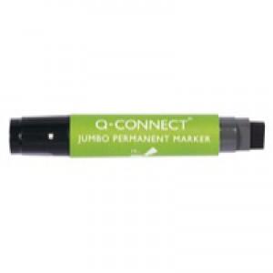Q-Connect Jumbo Permanent Marker Chisel Tip Black