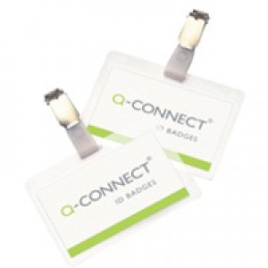 Q-Connect Hot-Laminating ID Badge with Clip