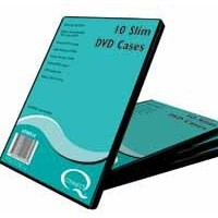 Q-Connect DVD Slim Case Pack of 10