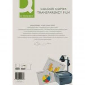 Q-Connect Laser Copier Film Colour A4 Pack of 50 KF00533