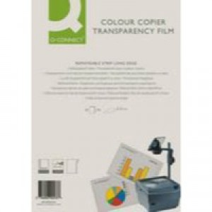 Q-Connect Laser Copier Film Colour A4 Pk 50 KF00533