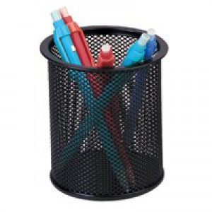Q-Connect Mesh Pen Pot Black KF00864