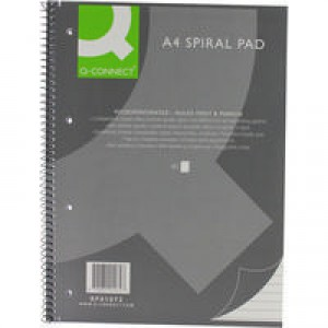 Q-Connect Spiral Pad Executive A4+ 80 Leaf Ruled Feint and Margin